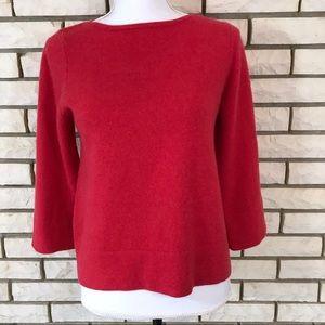 Boden Cashmere Sweater Crewneck Red